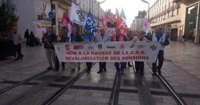 18 octobre 2018: Mobilisation à Tours pour défendre les retraites