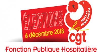 Elections Professionnelles du 3 au 6 décembre 2018. Présentation des candidats CGT du CHU de Tours.