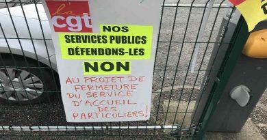 contre la fermeture le l'accueil trésorerie d'Amboise