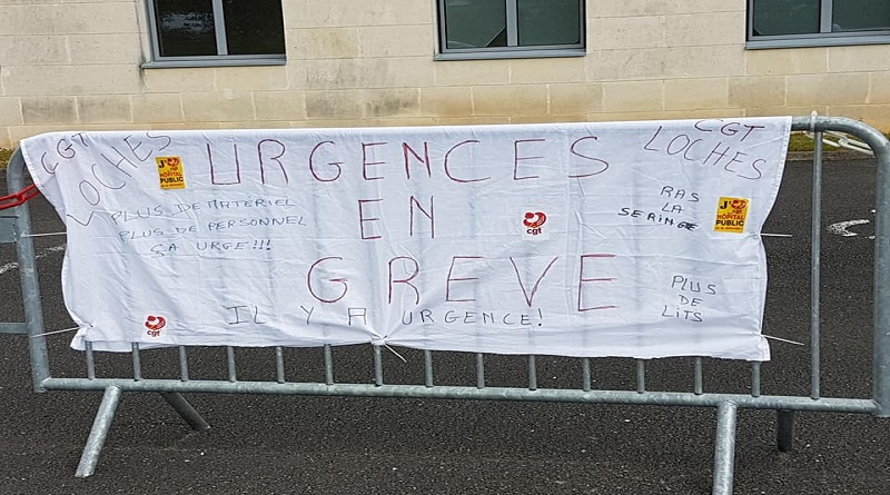 grève CGT CH Loches JUIN 2019