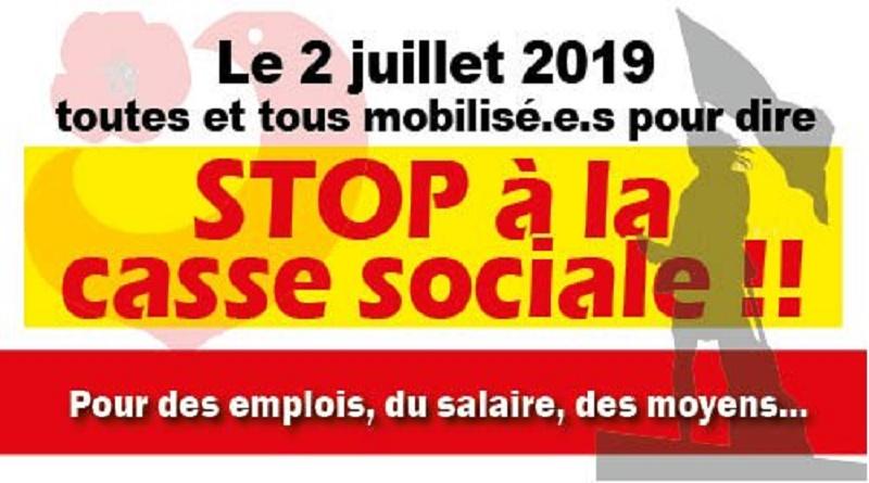 Toutes et tous mobilisé-es le 2 juillet à Paris et sur le département UD CGT 37