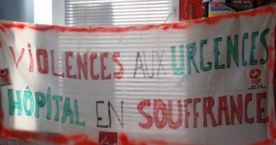 grève aux urgences du CH de Chinon mai 2019