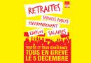 Tous Ensemble le 5 décembre. Agissons pour sauver notre système de retraites par répartition et pour plus de progrès social !