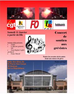 soirée concert solidarité grévistes UD CGT 37