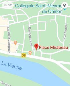 plan accès UL CGT Chinon