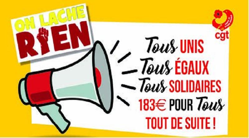 les oubliés du ségur UD CGT 37 action du 15 décembre 2020