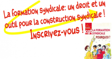 Plan de formation syndicale 2021