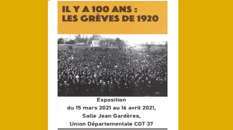 invitation exposition IHS CGT 37 les grèves de 1920