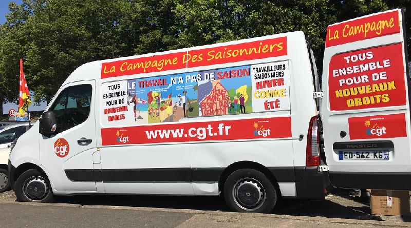 la caravane des saisonniers UD CGT 37
