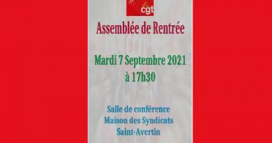 Assemblée  de rentrée des syndicats CGT d'Indre et Loire