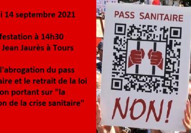manifestation 14 septembre 2021 Tours